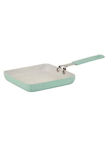 Granit Kaplamalı Mint Kare Mini Tava - 14 cm-Tantitoni